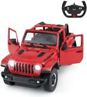 2.4Ghz Remote Control 1/14 Jeep Wrangler Licensed RC Model Car w/Open Doors Red