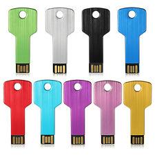 32GB USB 2.0 Metal Key Model Flash Pen Drive Memory Stick Thumb Storage Gift
