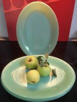 """1940's Fire-King Jadeite 12"""" x 9"""" Oval Platter, Jane Ray """"OVEN GLASS"""""""