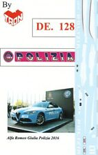 decal 1/43 POLIZIA x ALFA ROMEO GIULIA 2016 TRON DE128