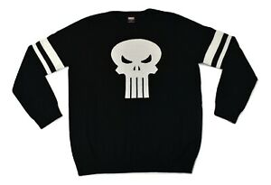 Marvel Mens Punisher Pullover Sweater New XL, 2XL