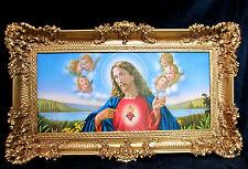 CUADRO CON MARCO Jesucristo 96x57 Cuadro Con Marco Imagen De Jesús da vinci