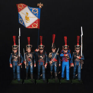 Tin soldier, Set of Battalion of Marine Corps of the French Imperial Guar, 54 mm