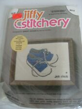 Jiffy Stitchery Blue Baby Sneakers 601A Kit Vintage New Factory Sealed
