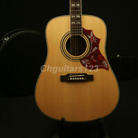 New Arrival Hummingbird Acoustic Guitar Solid Spruce Top Bone Nut &Saddles