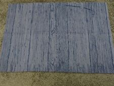Denim blue wood grain effect crafts sewing material remnant fabric piece 70x45cm