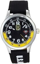 NEW US Army CAV-912 Mens Cavalry Velocity Watch Analog Date Stainless Steel WR