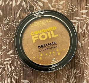 L'Oreal Paris Crushed Foil Metallic Highlighter Illuminateur; 20 Gilded Gold