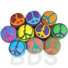 Peace Sign Multi Color Stripes Guatemalan Footbag Hacky Sack New HS9