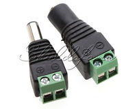 1Pair 2 pcs DC Connector Power Jack Adapter Plug Male Female 2.1x5.5mm CCTV A86