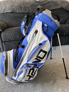 Sun Mountain H2NO staff 14 Way Stand Bag, Blue/grey/black, Great Used Condition.