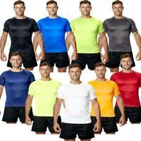 Hombre en Forma Camiseta Gimnasio Atletismo Ejercicio Transpirable Active Ropa