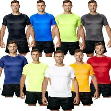 Mens Fitness T-Shirt Gym Tee Top Running Workout Breathable Active Wear Sports S