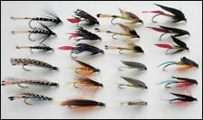 Sea Trout Fishing Flies, 24 Pack Large Hook Wets, Mixed 6/8/10, For Fly Fishing