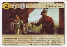 3 x Called to Court AGoT LCG 1.0 Game of Thrones On Dangerous Grounds 60