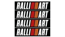 Mitsubishi evolution RALLIART bumper decal sticker kit