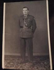 Vintage Black & White Photograph European Soldier