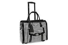 Cabrelli Victoria Houndstooth 15 Inch Laptop Rollerbrief, Black/White 715007U