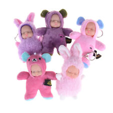 Kawaii Keychain Plush Sleeping Baby Doll Pendant Girl Keyring Bag Decoration@