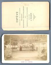 Estéve, France, Vichy. Source de l'Hôpital  CDV vintage albumen.  Tirage