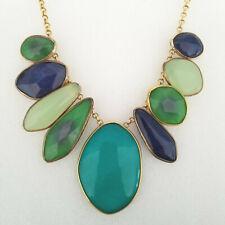 Stella & Dot Serenity Necklace Blue Green Golden Gold Chain