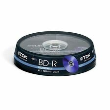 BRAND NEW TDK T78088 25GB 4X RECORDABLE BD-R - CAKEBOX 10 PACK