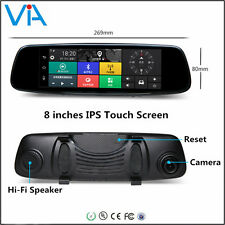 8''HD1080P Bluetooth WiFi GPS Smart Rearview Mirror Camera 4G Android5.1 Car DVR