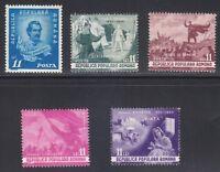 Romania 1950 MNH Mi 1196-1200 Sc 719-723 Mihail Eminescu, poet.Scenes  LUXUS **