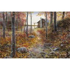 "Jim Hansel ""Whispers of Autumn"" Lake Cabin Print  16"" x 12"""