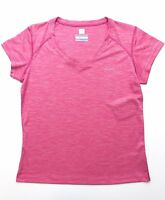 Columbia Sportswear Women's Omni-Freeze ZERO V Neck T-Shirt River Chill Pink