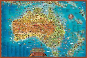 Blue Opal - Giant Map Down Under Puzzle 300pc