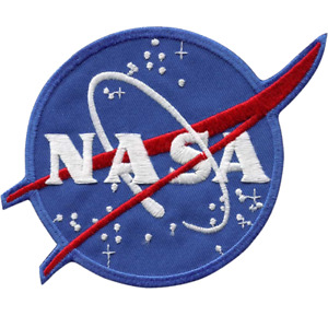 """NASA Space Agency Logo Embroidered Patch 4"""" (100 mm) diameter version"""