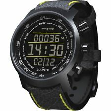 Suunto SS019997000 Elementum Terra Black/Yellow Leather Digital Display Watch