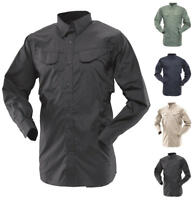 TruSpec 24-7 Mens 65/35 Poly/Cotton Rip-Stop Ultralight Long Sleeve Field Shirt