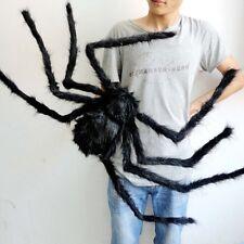 Floppy Spider Halloween Haunted House Prop Indoor Outdoor Wide Bugs Decor Black