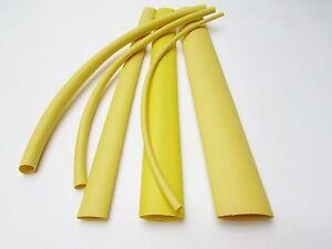 6' Yellow Heat Shrink Tube Assortment 3:1 Dual Wall Adhesive Glue Line Marine/to