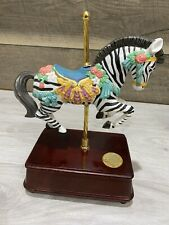 The S.F. Music Box Co. Zebra Carousel Collection 1992 Limited Edition