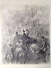 Gustave Dore Londres, 1872 impresión Antiguo, Original, tarde en el parque