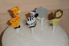 "Safari,Zoo, Zebra,Animals,Cupcake Picks,Plastic 3"",12pc.,Multi-Color,DecoPac."