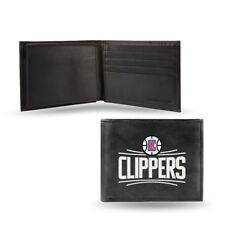 LA Clippers NBA Embroidered Leather Billfold Wallet