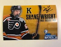 Kingston Frontenacs 1st OHL Pick Shane Wright Signed 4 X 6 Photo Next McDavid ?