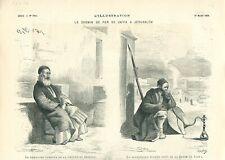 Chemin de fer Jaffa à Jérusalem rabbin grotte de Jérémie Ottoman GRAVURE 1879