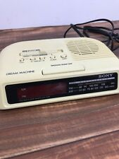 Sony Dream Machine Vintage Beige Digital Clock Alarm Radio 1CF-C25 Tested