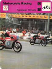 1977 Sportscaster Card Motorcycle Racing European Circuits # 10-01 NRMINT / MINT