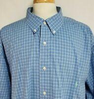 Ralph Lauren Mens sz 4XLT Blue Green Striped Stretch Long Sleeve Button Up Shirt