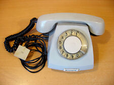 VINTAGE SOVIET RUSSIAN USSR ROTARY DIAL PHONE GREY Telephone