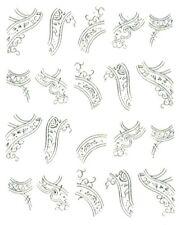One Stroke Sticker,Silber,Bordüre,Tattoo, Aufkleber  Nr.1351