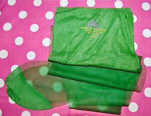 """Vintage """"Horny Green"""" Sparkle RT Stockings Size 10 1/2 Long Hosiery *RARE*"""