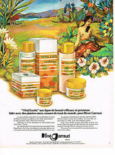 PUBLICITE  1974   RENE GARRAUD   cosmétiques VITAL EXOTIC   PAUL GAUGIN