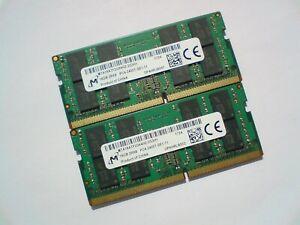32GB 2x 16GB DDR4-2400 PC4-2400 2400Mhz MICRON MTA16ATF2G64HZ-2G3H1 LAPTOP RAM
